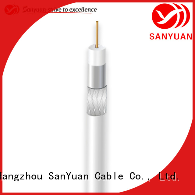 SanYuan latest 75 ohm coax supply for satellite