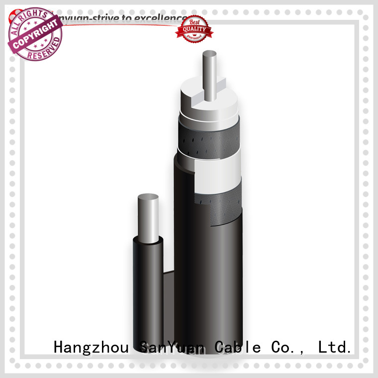 SanYuan 75 ohm coaxial cable factory for digital video