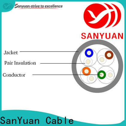 SanYuan cat 5e lan cable wholesale for internet