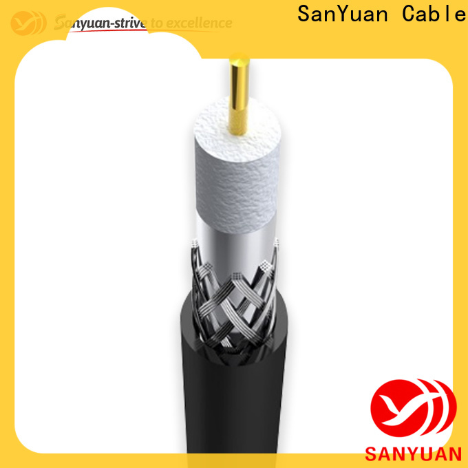 SanYuan long lasting 75 ohm coaxial cable factory for HDTV antennas