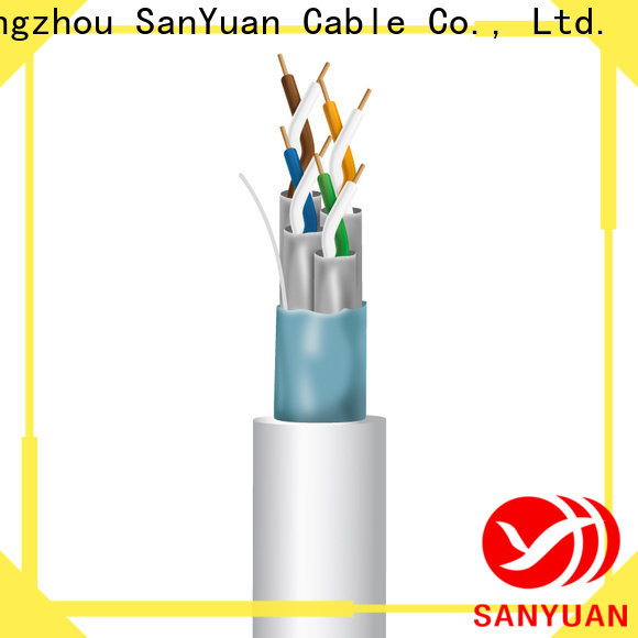 SanYuan high speed cat 7 lan cable manufacturer for railway