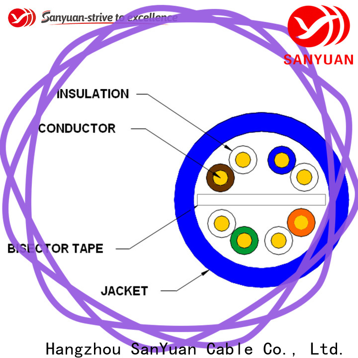 SanYuan cat 6 cable directly sale for internet