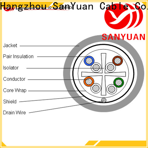 SanYuan hot selling category 6 lan cable supplier for data communication