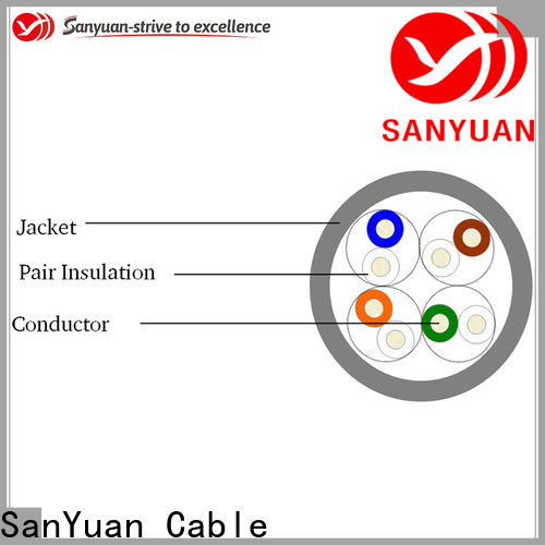 SanYuan high quality cat 5e lan cable directly sale for internet