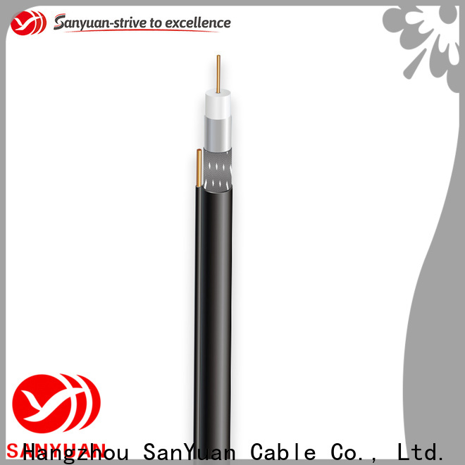 SanYuan long lasting 75 ohm coaxial cable supply for data signals