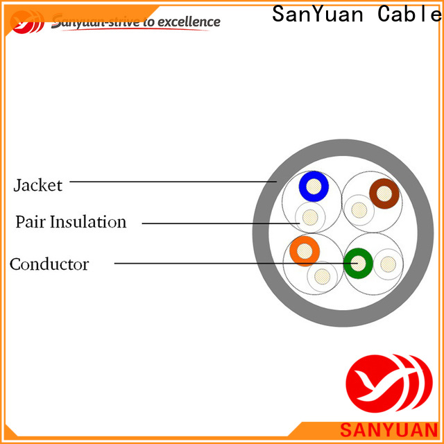 SanYuan inexpensive cat 5e lan cable series for telephony