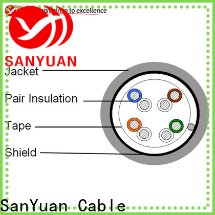 SanYuan new cat 5e lan cable factory direct supply for internet