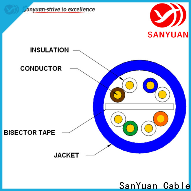 SanYuan popular cat6 lan cable factory direct supply for data network