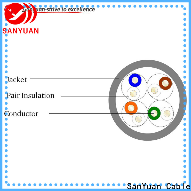 SanYuan long lasting category 5e lan cable manufacturer for telephony