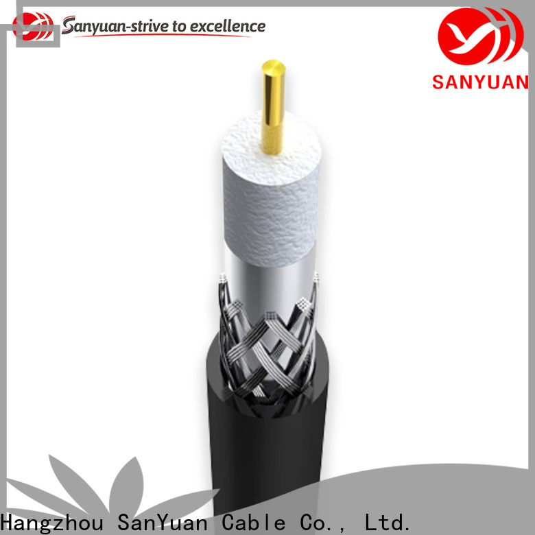 SanYuan 75 ohm coaxial cable suppliers for digital video