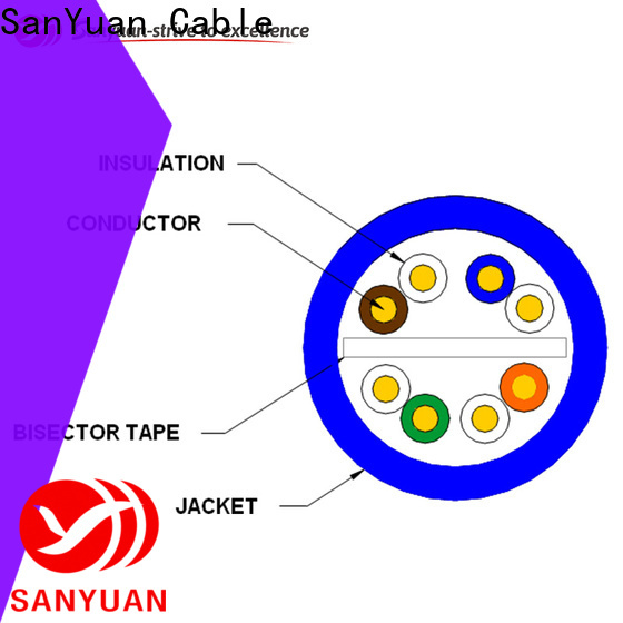 SanYuan cat6 cable factory direct supply for data communication