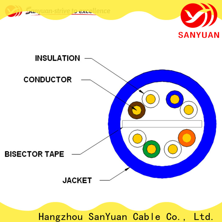 popular category 6 lan cable factory direct supply for data network