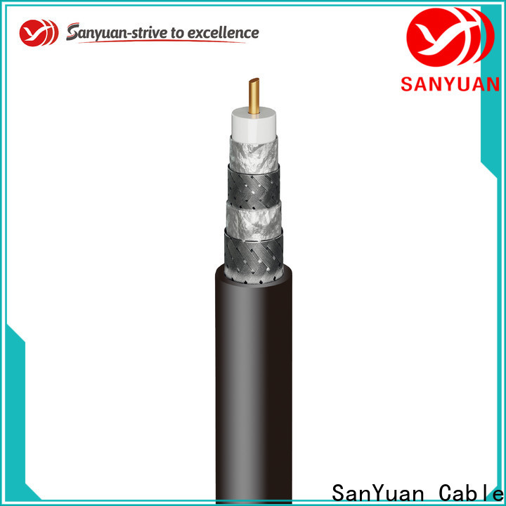 SanYuan long lasting 75 ohm cable manufacturers for satellite