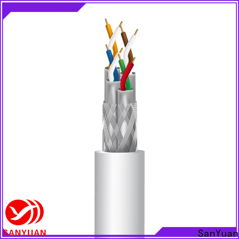 SanYuan cat 7a ethernet cable factory for railway