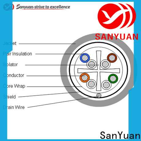 SanYuan category 6 lan cable manufacturer for data network