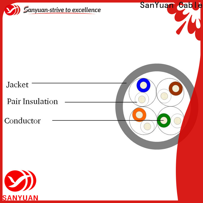 SanYuan durable cat 5e lan cable directly sale for computers
