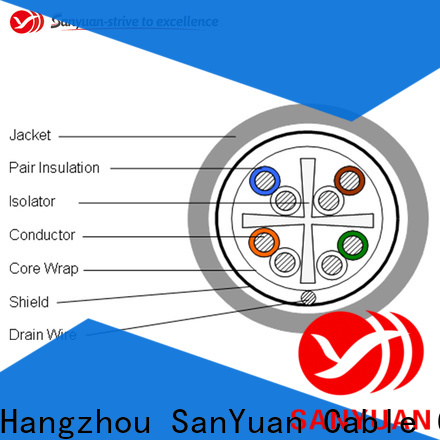 SanYuan cat6 ethernet cable factory direct supply for internet