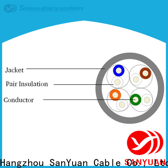 SanYuan long lasting category 5e cable directly sale for telephony