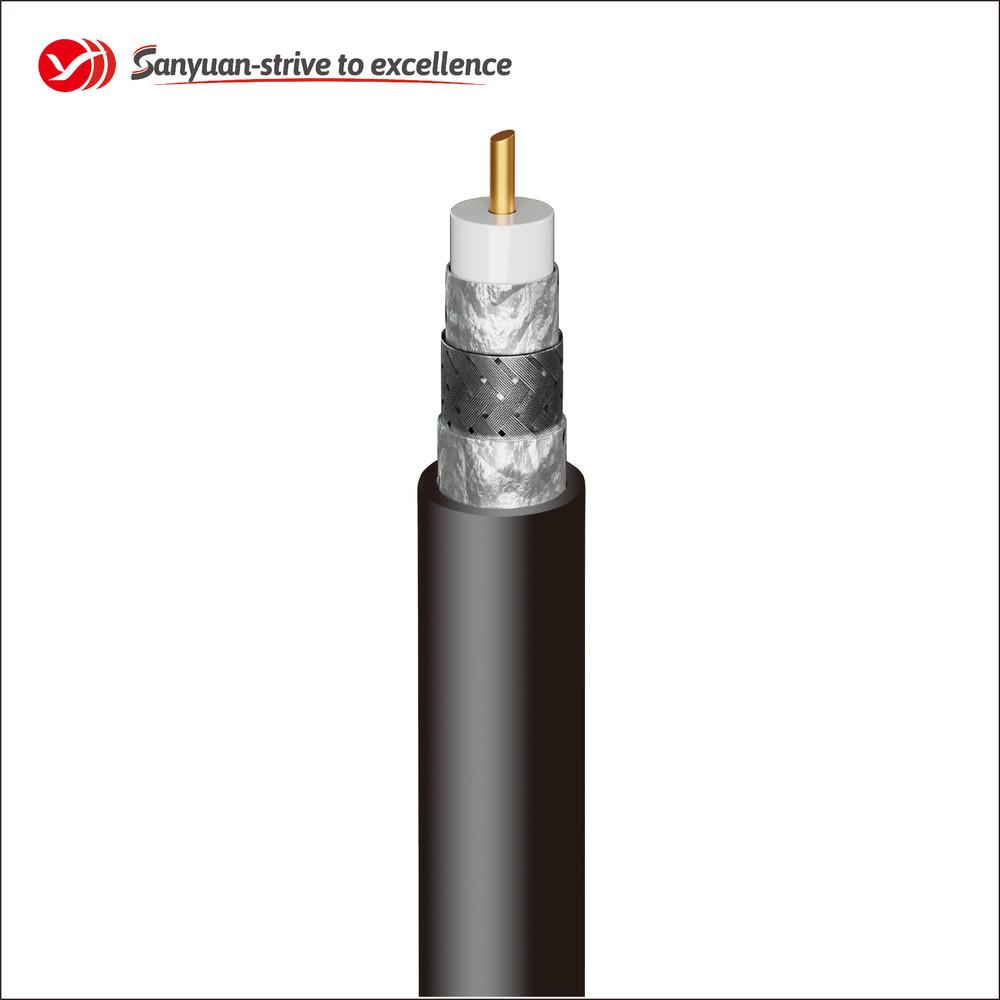 RG59 Black PVC Jacket 75 Ohm Coaxial Drop Cable SYRG59TSV
